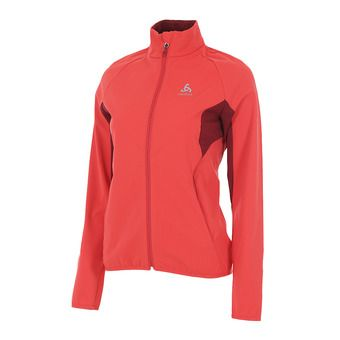 Odlo AEOLUS ELEMENT WARM - Chaqueta mujer hibiscus/rumba red