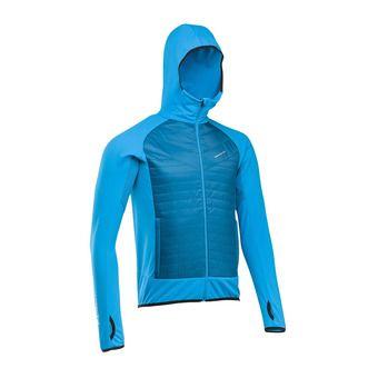 Veste hybride à capuche homme WINTERTRAIL electric blue