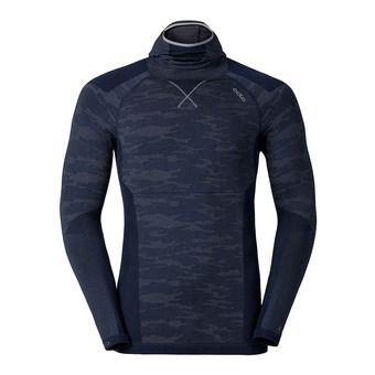 Maillot ML homme BLACKCOMB EVOLUTION WARM navy new/black/odlo concrete grey melange