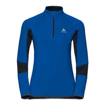 Sweat 1/2 zip femme DIOXIDE lapis blue/black