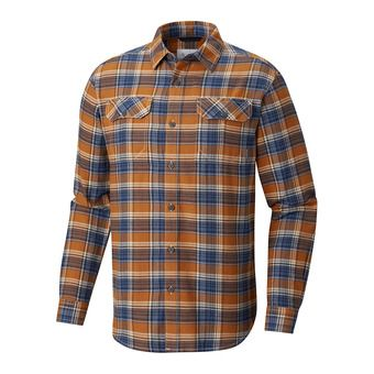 Chemise ML homme FLARE GUN FLANNEL III bright copper small plaid
