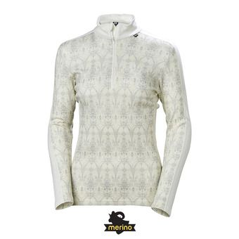 Camiseta térmica mujer LIFA MERINO offwhite/frost print