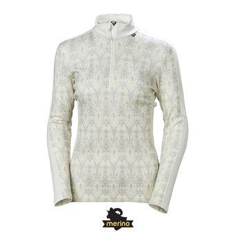 Camiseta térmica mujer LIFA MERINO offwhite/frost print