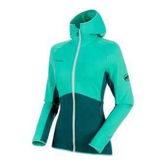 Sweat zippé à capuche femme BOTNICA LIGHT atoll/teal