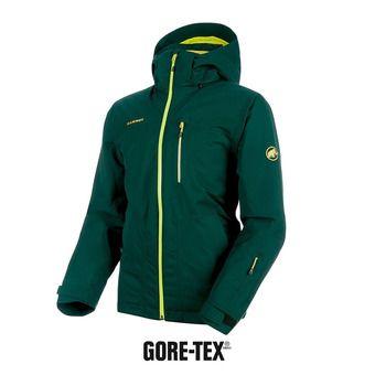 Veste de ski à capuche homme STONEY GTX® THERMO dark teal/canary