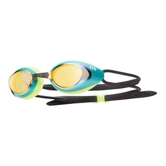 Gafas de natación BLACK HAWK RACING MIRRORED gold/green/fl yellow