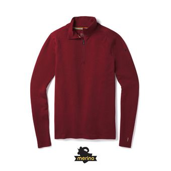 Men's Merino 250 Baselayer 1/4 Zip Homme Tibetan Red Heather