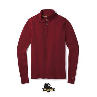Sweat 1/4 zip homme MERINO 250 tibetan red heather
