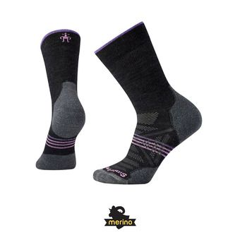 Chaussettes femme PHD OUTDOOR LIGHT CREW charcoal