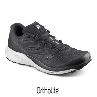 Salomon SENSE RIDE - Chaussures trail Homme black/white/phantom