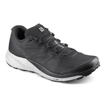 Salomon SENSE RIDE - Trail Shoes - Women's - black/white/phantom