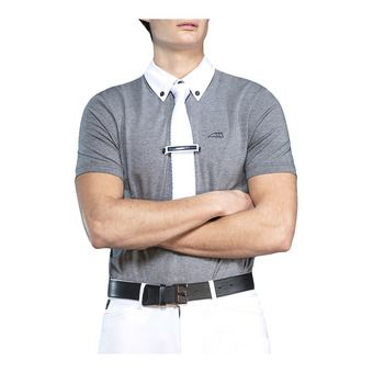 Equiline ALDO - Polo concours Homme grey melange