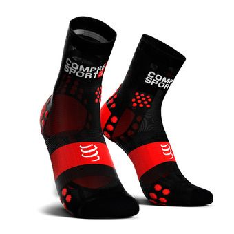 Compressport PRORACING V3 ULTRALIGHT RUN HIGH - Socks - black/red