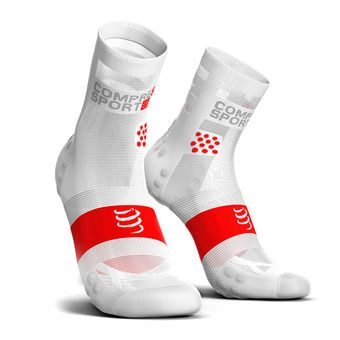 Compressport PRORACING V3 ULTRALIGHT RUN HIGH - Socks - white