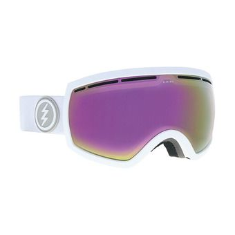 Masque de ski femme EG2.5 matte white/brose-pink chrome + jet black