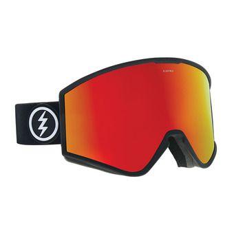 Masque de ski KLEVELAND matte black/brose-red chrome + pink