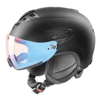 Uvex HLMT 300 VISOR VARIO - Casco de esquí black mat