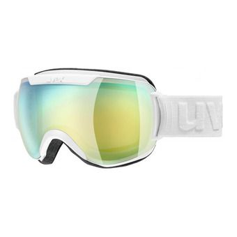 Uvex DOWNHILL 2000 FM - Gafas de esquí white mat/mirror orange/blue