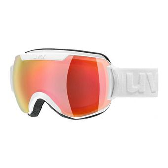 Masque de ski DOWNHILL 2000 FM white mat/mirror red/lasergold lite