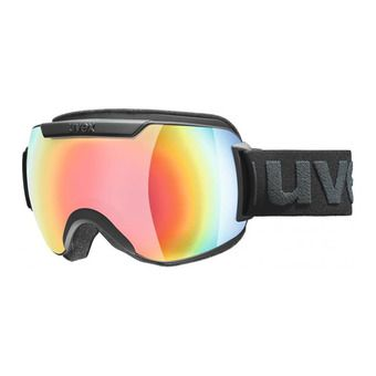 Uvex DOWNHILL 2000 FM - Masque ski black mat/mirror rainbow pink