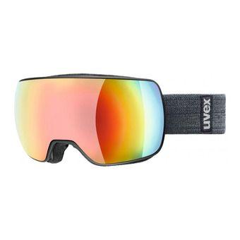 Uvex COMPACT FM - Gafas de esquí black mat/mirror rainbow/rose