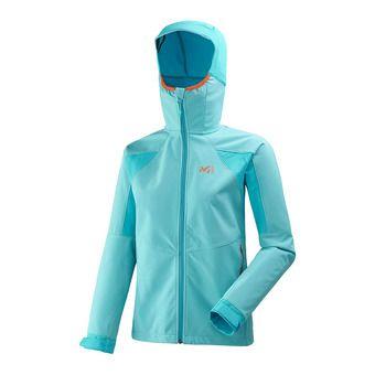 Veste à capuche femme TOURING SHIELD blue bird