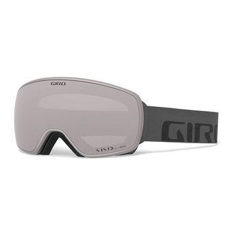Giro AGENT - Maschera da sci grey wordmark vivid onyx