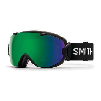 Smith I/OS - Maschera da sci Donna black/chromapop everyday green mirror