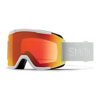 Smith SQUAD - Gafas de esquí white vapor/red sol x mirror