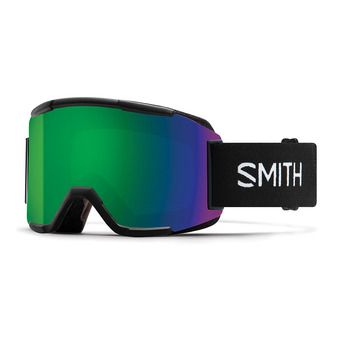 Smith SQUAD - Masque de ski black/chromapop everyday green mirror + yellow