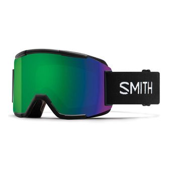 Smith SQUAD - Masque ski black/green sol x mirror