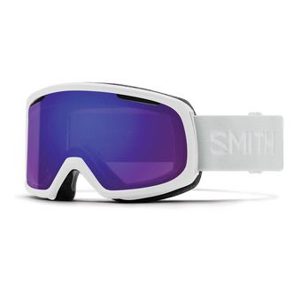 Smith RIOT - Gafas de esquí mujer white vapor/chromapop everyday violet mirror