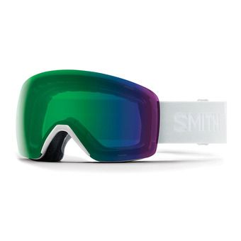 Smith SKYLINE - Masque ski white vapor/chromapop everyday green mirror