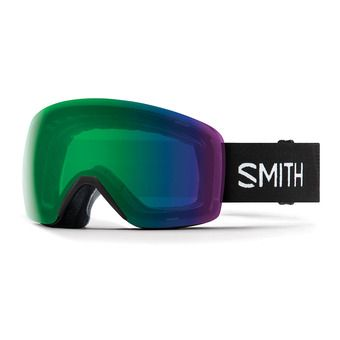 Smith SKYLINE - Gafas de esquí black/chromapop everyday green mirror