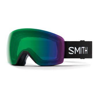 Smith SKYLINE - Maschera da sci black/chromapop everyday green mirror