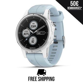 Reloj GPS FENIX 5S PLUS blanco