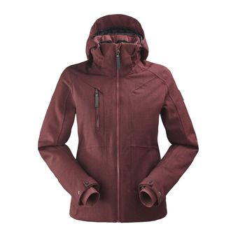 Veste de ski à capuche femme COLE VALLEY 2.0 dark wine