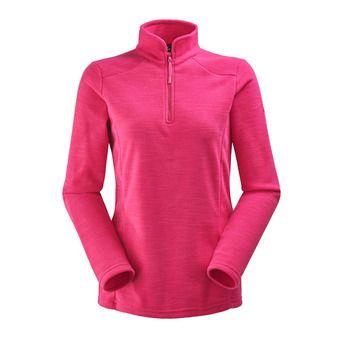 Polaire 1/2 zippée femme GLAD dark pink