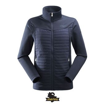 Polaire hybride zippée homme ALPINE MEADOWS dark night