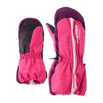 Manoplas de esquí junior LANGELO AS® MINIS pink blossom rib
