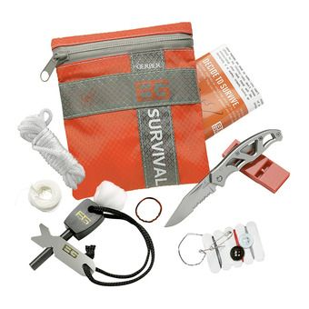 Kit de survie BEAR GRYLLS gris/orange