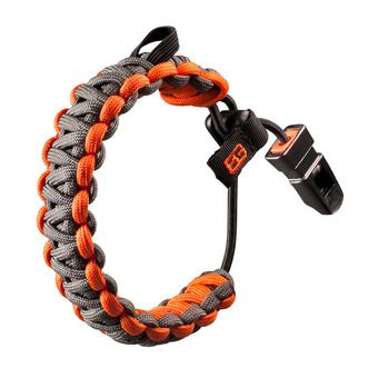 Paracord Survival Bracelet - BEAR GRYLLS grey/orange