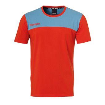 Kempa EBBE & FLUT - Camiseta hombre red phare/blue colombe