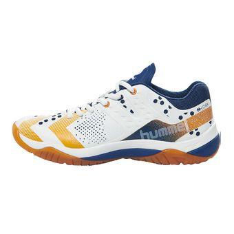 Chaussures handball homme DUAL PLATE POWER white/poseidon/orange popside