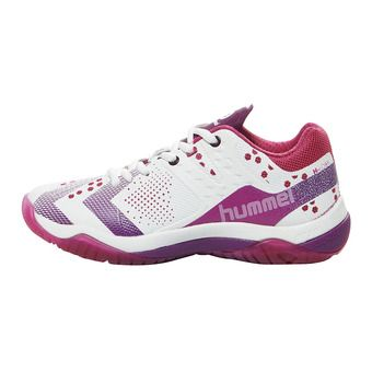 Zapatillas balonmano mujer DUAL PLATE POWER beetroot purple/dark purple
