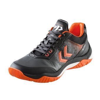 Hummel DUAL PLATE SKILL VP28 - Chaussures hand Homme black/shocking orange