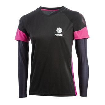Hummel TROPHY - Maglia Donna black/beetroot purple
