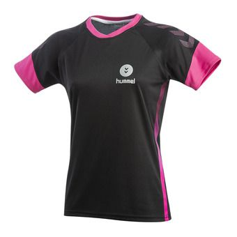 Maillot MC femme TROPHY PE19 black/beetroot purple