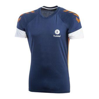 Hummel TROPHY - Camiseta hombre poseidon/orange popside