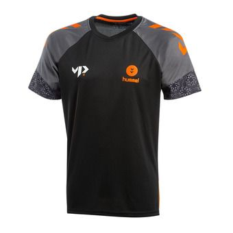 Hummel VP28 XMAS - Camiseta hombre xmas18 black/shocking orange